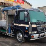Продаю грузовой бортовой с манипулятором Nissan дизель 2012 года выпуска