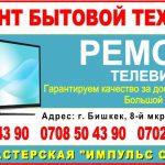Ремонт телевизоров и бытовой техники. Ремонт бытовой техники Бишкек