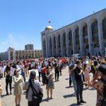 В Бишкеке прошел митинг против закона о манипуляции информацией