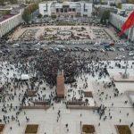 На площади Ала-Тоо произошла стрельба — люди побежали врассыпную. Видео