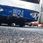 Водитель троллейбуса врезался в столб, чтобы не задавить велосипедиста